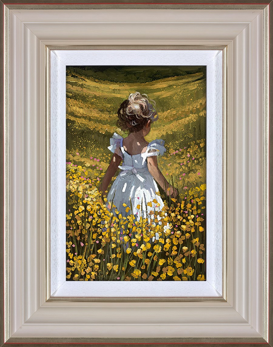 Wildflower Meadow by Sherree Valentine Daines - Hand Finished Limited Edition on Canvas sized 8x12 inches. Available from Whitewall Galleries